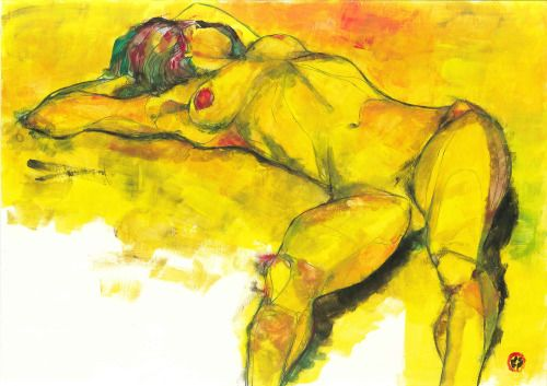 yellow #31 (42 x 30, tempera on paper)