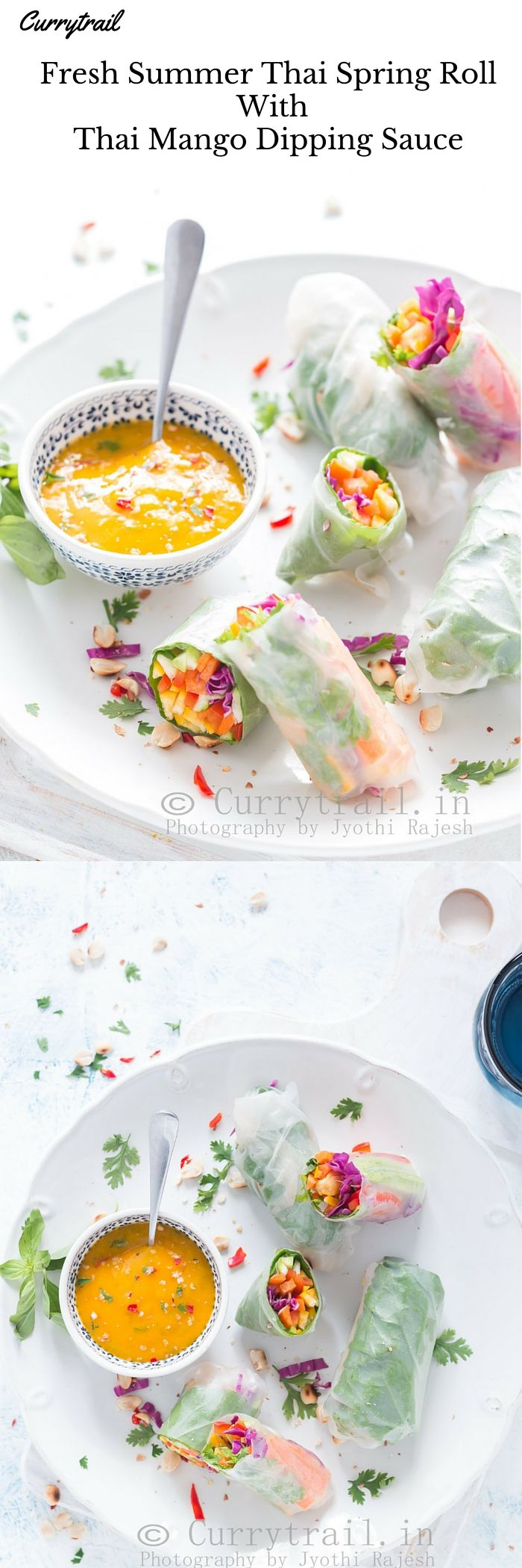 Thai Spring Roll with Thai Mango Dipping Sauce