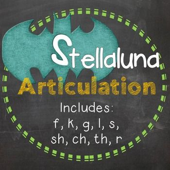 Stellaluna ArticulationCreated by Desiree Rusch-Winterbottom, M.A. CCC-SLP SLPTalk  2013   desiree.slptalk@gmail.com clipart by MarloDeeDesighns.comIncorporate your articulation goals into your literacy units with this easy print and go articulation set for the popular childrens book Stellaluna, which can be differentiated to be used with many grade levels in speech therapy!The words are all derived from the vocabulary in the book to increase phonemic awareness as your students listen to…