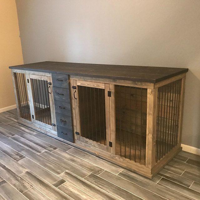 Dog Crate Furniture Pet Furniture Custom Dog House Wood Dog