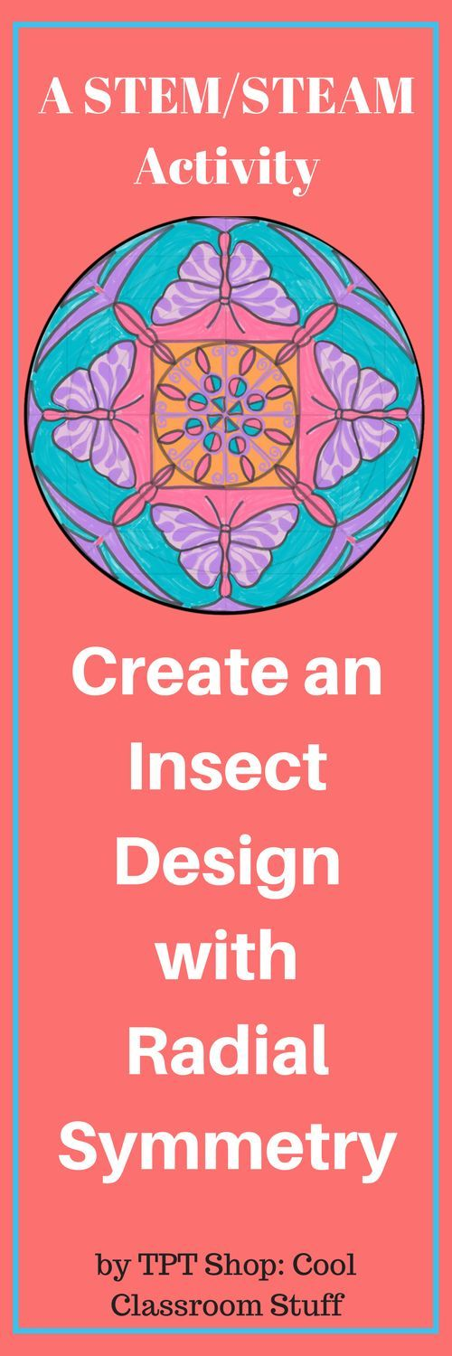 This is a fun STEM/STEAM activity for subs, centers or early finishers. Create an insect design with radial symmetry. Combines art, science and math.