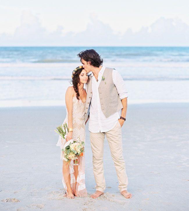 Eclectic Beach Wedding | Photo By Shipra Panosian