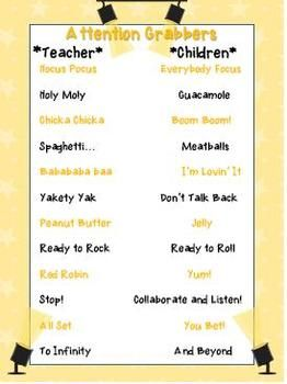 attention grabbers When you mention attention grabbers or attention getters first thing most people think of is school this word is commonly used for students teachers will use learning tools in the classroom to teach kids who have attention issues.