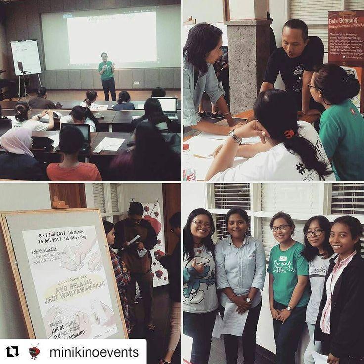 From @minikinoevents (@get_repost)  Sampai ketemu di kampus @akubank Sabtu 15 Juli 2017 di Lab video-vlog - seri Ayo Belajar Jadi Wartawan Film. . #writinglab #review #vlog #shortfilm #programming #writing #films #bali #Denpasar