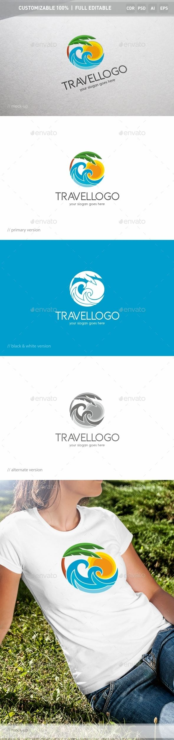 Travel - Logo Design Template Vector #logotype Download it here: http://graphicriver.net/item/travel-logo-template/13063466?s_rank=1255?ref=nexion