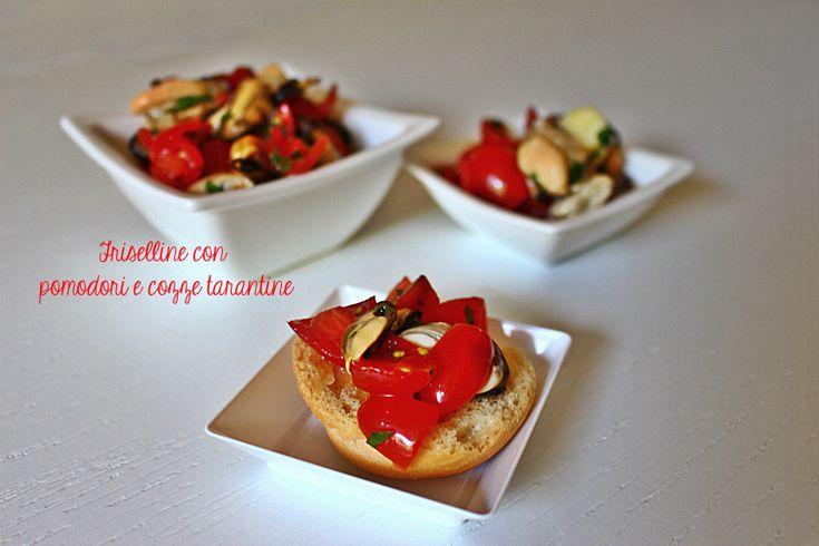 Friselline+insalata+di+pomodori+e+cozze+tarantine