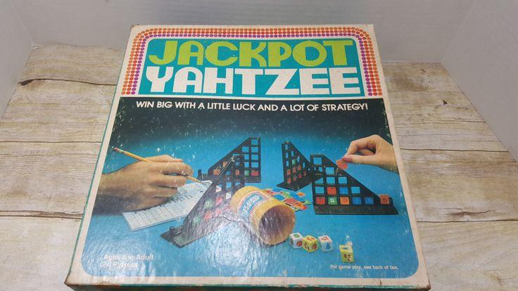 Jackpot yahtzee 1980 vintage game vintage games games