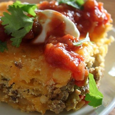 Brunch Enchiladas -  Read the suggestions to make sure the enchiladas are covered with the sauce, etc.