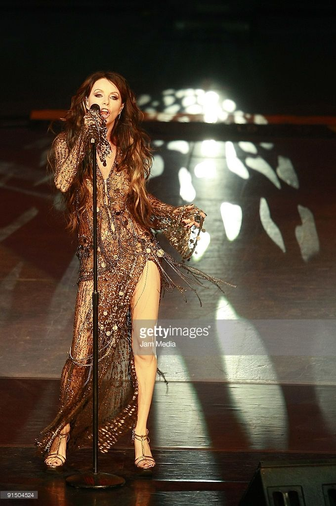 Sarah Brightman performs during her concert at Auditorio Nacional on October 5, 2009 in Mexico City, Mexico.