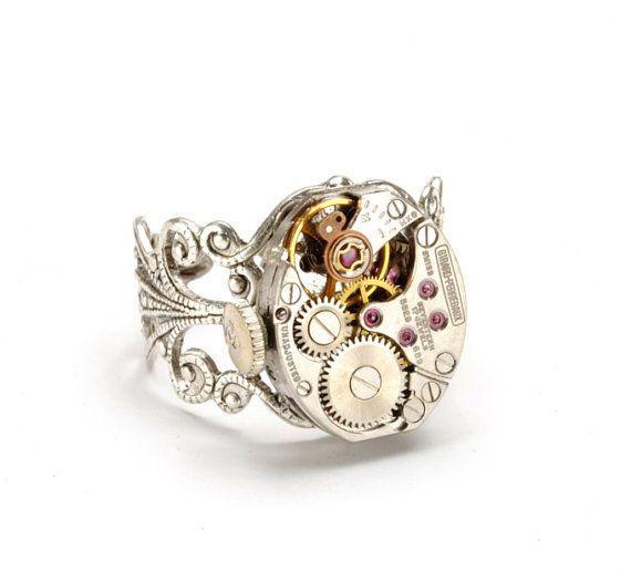 Steampunk Jewelry Steampunk Ring Vintage by VictorianCuriosities, $40.00
