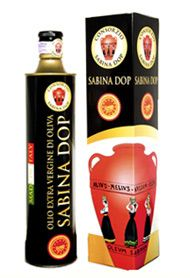 Sabina PDO is an ancient italian olive oil. It is produced in the Sabine, an area located north of Rome and is obtained from a variety of olives, including Carboncella, Leccino, Raja, Frantoio, Olivastrone, Moraiolo, Olivago, Salviana and Rosciola.