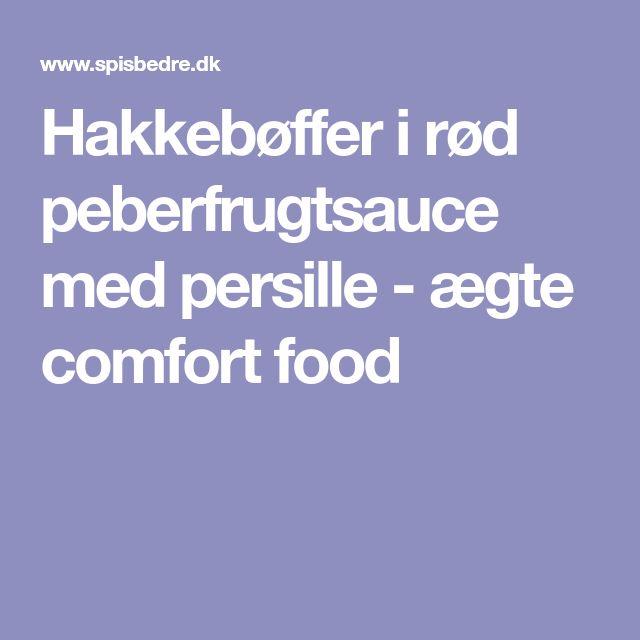 Hakkebøffer i rød peberfrugtsauce med persille - ægte comfort food