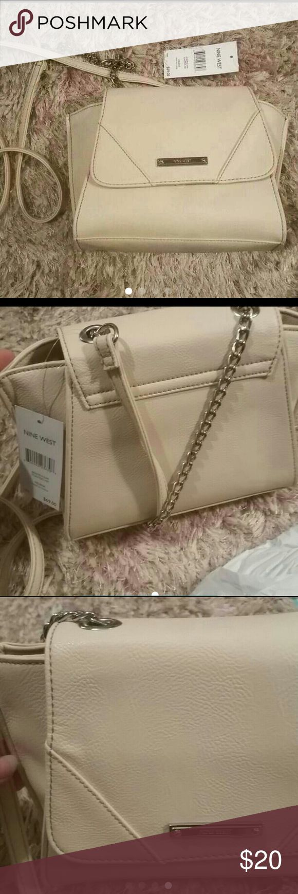 Nine west purse Simple, classic tan purse by Nine west. Msrp is $69. New with tags Nine West Bags Crossbody Bags