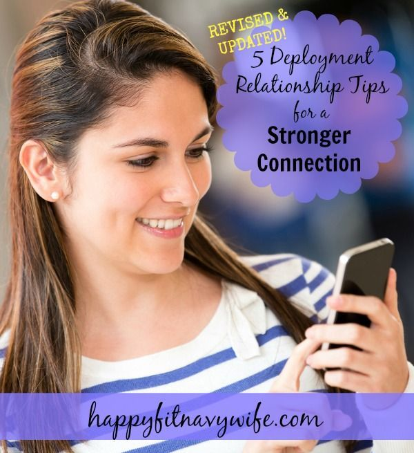 5 Deployment Relationship Tips For A Stronger Connection. Have you ever wondered how to connect better with your hubby when he's deployed? This download gives tons of ideas in each tip! Love it.
