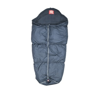 Take you baby for a dry and warm walk in the stroller with this warm, down sleeping bag. Room for holes to be made for stroller straps.