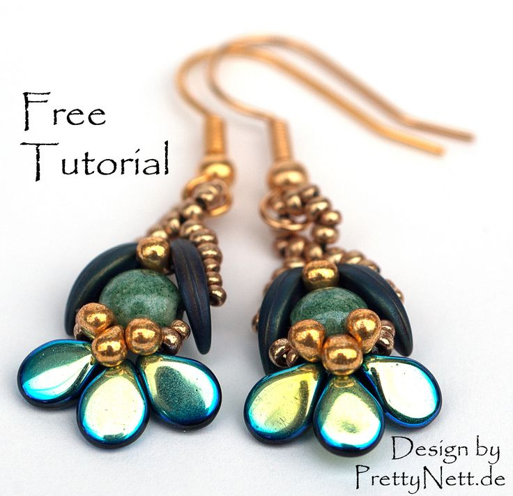 "PrettyNett - unique handmade beaded jewelry: Free Beading Pattern for earrings ""Orchid"""