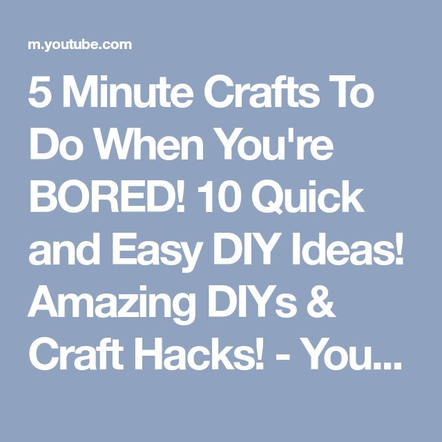 Best 25+ DIY Crafts To Do When Your Bored Ideas On