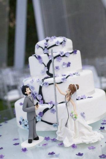 Tortas de matrimonio en Lima.  Torta pole dance lila de Duchis Sweets & Cakes | Foto 28