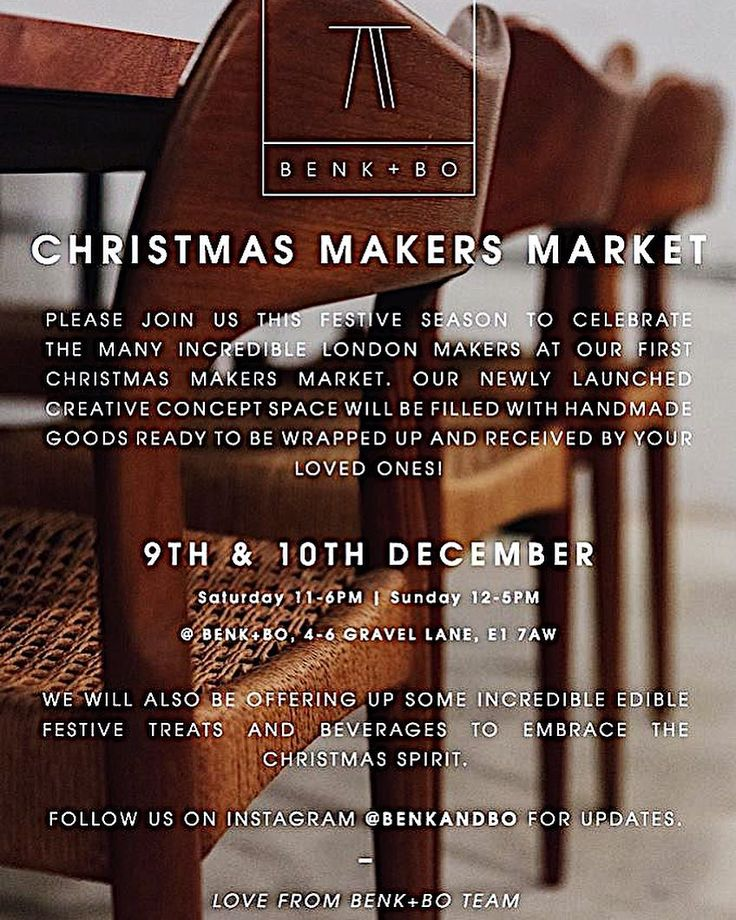 Invites sent Jewels and pots packed... . So Im off to the lovely creative concept space @benkandbo for their Christmas Market this weekend and my last selling event this year (phew!) . There will be mulled wine Skandi food and live music in this beautiful space. . Ill be there with my jewels and ceramics alongside another 20 artists. . Pop in say hi and have glass of Christmas cheer! . @benkandbo Christmas Makers Market 9/10 December 4-6 Gravel Lane E1 7AW . #christmasmarketlondon…