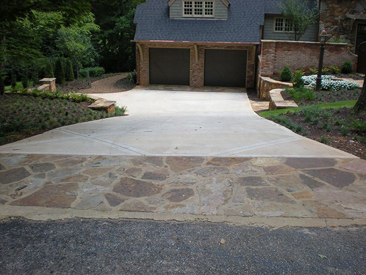 139 best images about house and home on pinterest acid for Driveway apron ideas