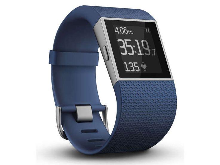 Montre fitness connectée Fitbit Surge bleu large pas cher prix promo Montre Conforama 229.00 €