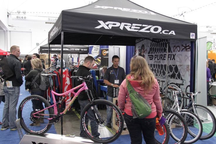 testing out new #bikes @Vancouver Bike Show