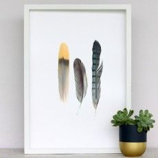 Metallic Feathers Art Print by Cloud 9 Creative See here: http://www.endemicworld.com/metallic-prints.html