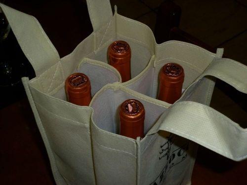 Bolsa para 4 botellas