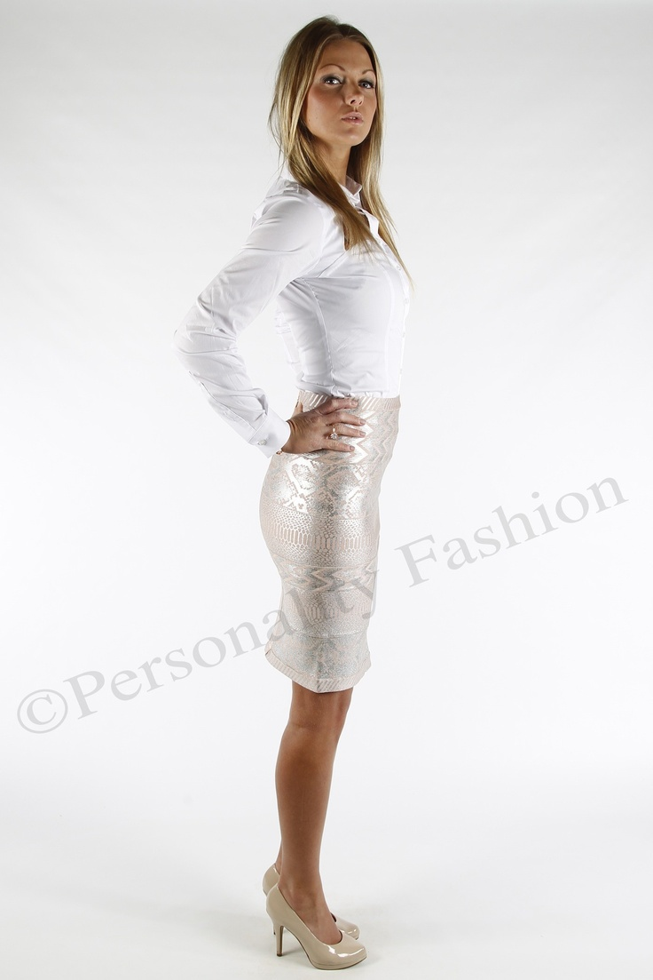 Bandage Rok Picture Perect Pink Zilver | Personality Fashion