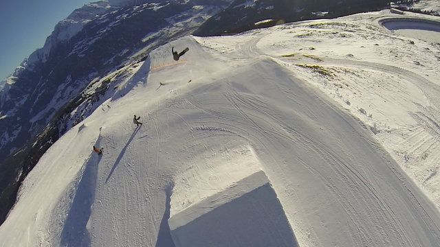 Chasing through the new Laax pro line