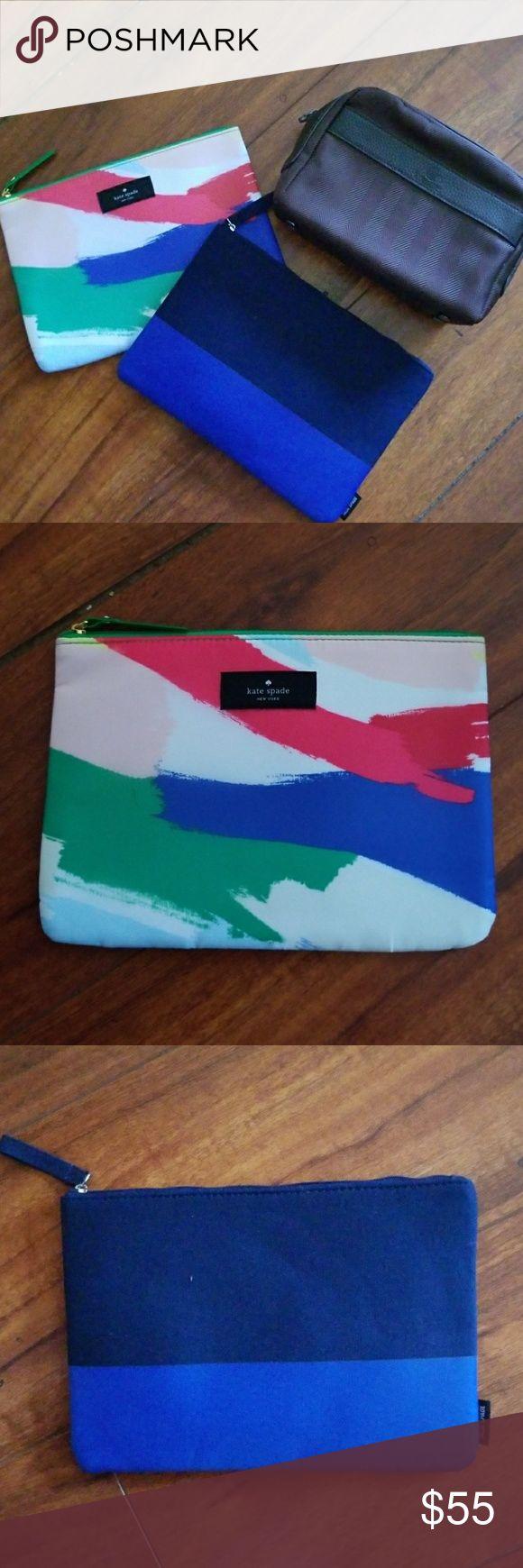 Kate Spade, Jack Spade & BVLGARI Bag Bundle 3 pcs all new signature pouch! kate spade Bags