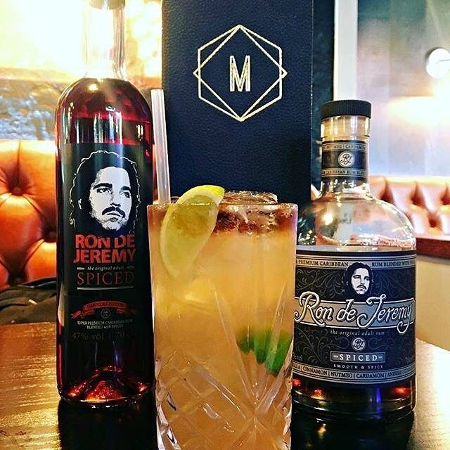 - The Dark n' Horny 🌚👹 - by @lukeajcole123 (Ig) - 50ml Ron de Jeremy Spiced - 3 Squeezes fresh Lime - 3 dashes Peychard - 10ml Gomme - 10ml Cointreau - Manahatta Ginger and Cinnamon Cordial - 25ml Ginger Beer - top Ron de Jeremy Spiced Hardcore (float).  . . . . #rdjcocktailchallenge3 #rondejeremy #cocktails #bartenders #contest #event #tasty #rum #rumwithatwist #theoriginaladultrum #ronjeremyrum #mixology #inspiration #rumtales #mixing #creative #tasty #cocteleria