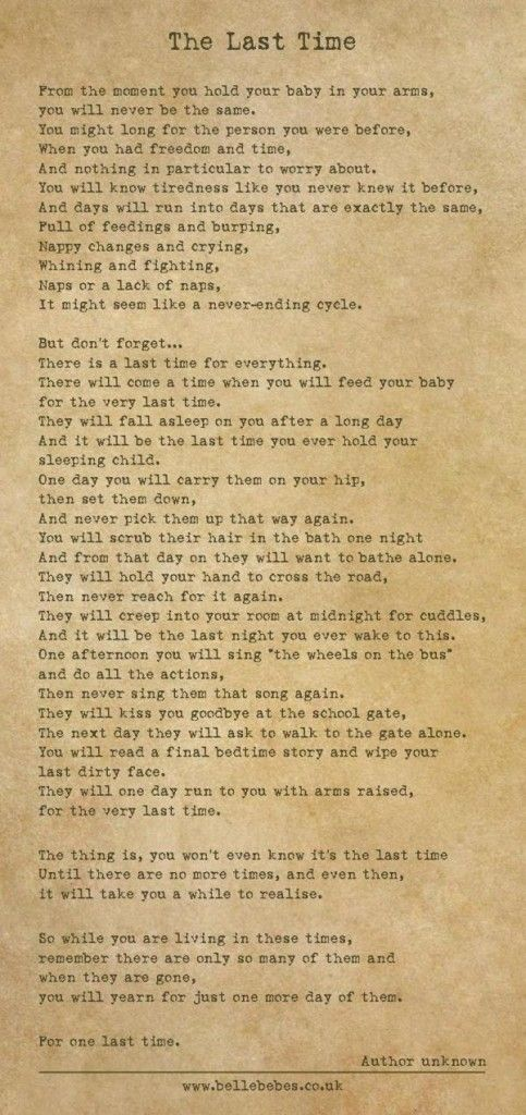 The last time poem....    Crying now