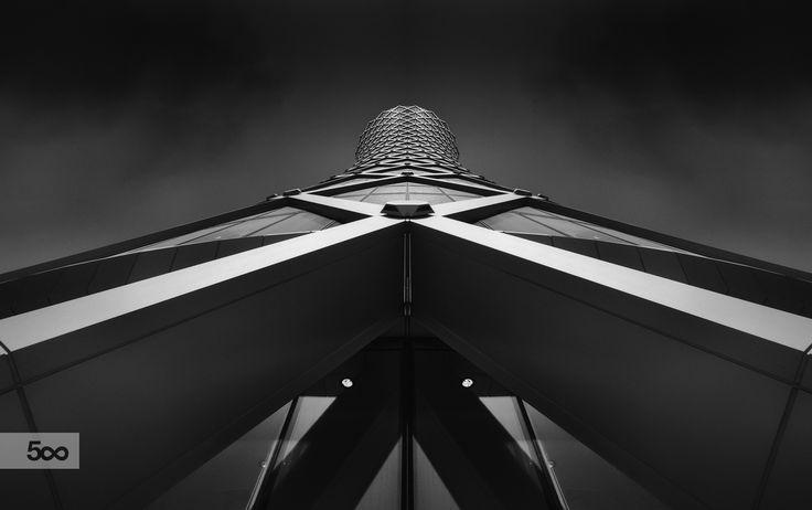 Doha's Tornado Tower, in Qatar. Always a draw to my eye.