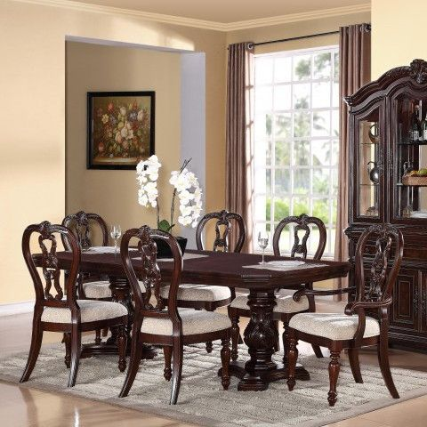 Brilliant Dining Room Black Table Sets And White Cushions Also