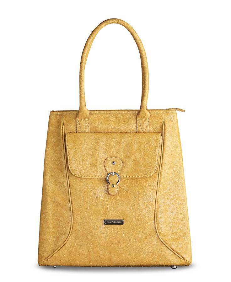 Caprese Bags - Birdy, Large Ocher Yellow Tote