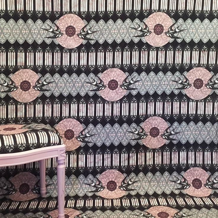 Gothic Swallows Fabric