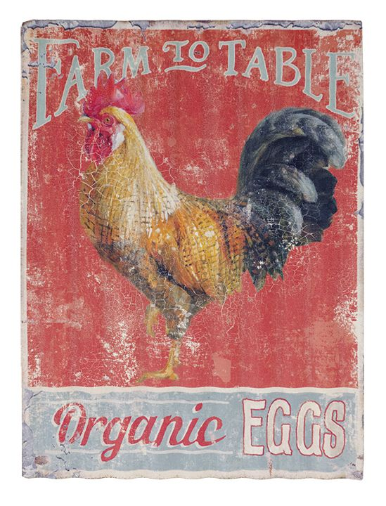 Love this vintage look Farm to Table Sign! KP Creek Gifts