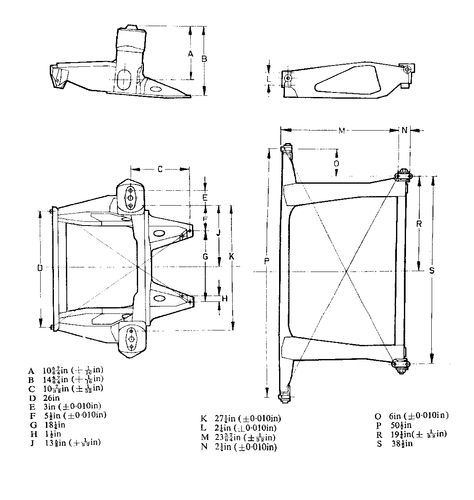 austin mini rear subframe mounting dimensions - Google Search