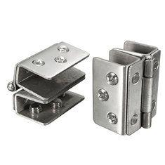 #Banggood 2pcs стекло стеклянной двери двойной зажим душ петли ручка инструмент оборудования (1076021) #SuperDeals