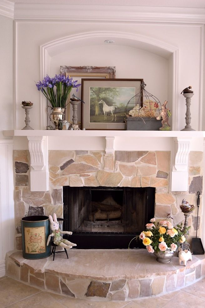 Fireplaces Mantels Ideas Feathered Nest Friday In 2019 | Fireplaces | Cottage