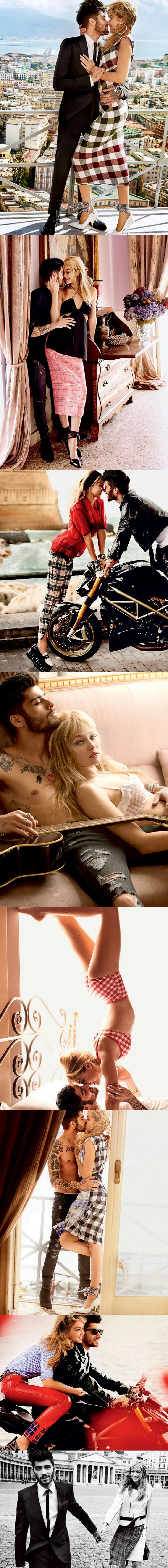 Zayn Malik and Gigi Hadid for Vogue US . Pictures - Mario Testino ©