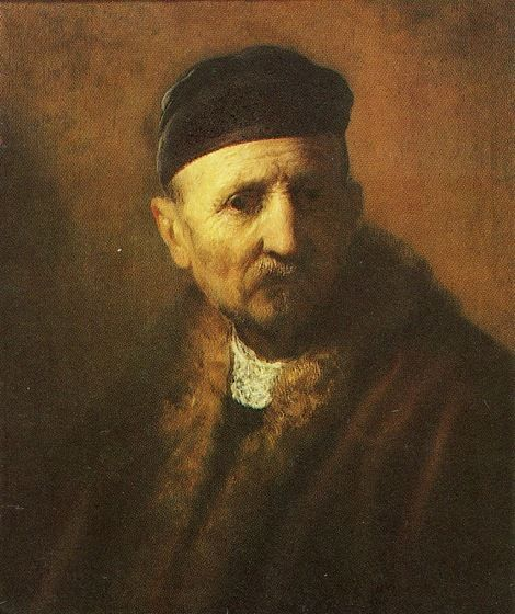Rembrandt van Rijn, Bust of Old Man with a Beret on ArtStack #rembrandt #art