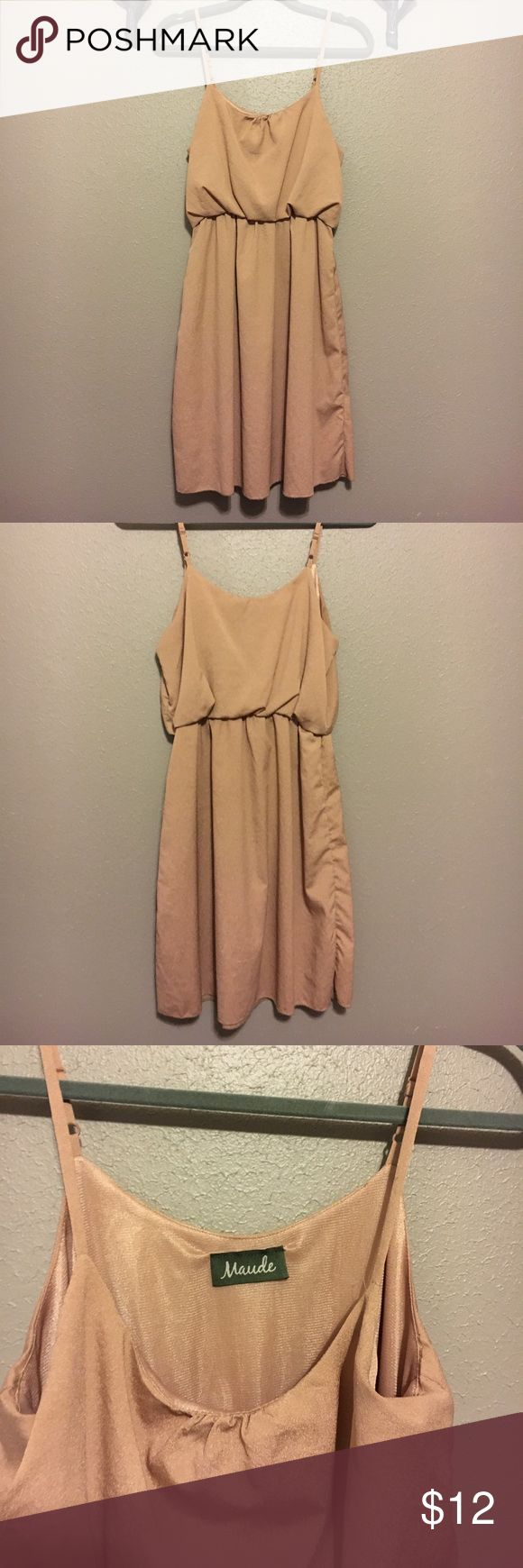 Nude dress Nude dress would be great with cardigan for a cool autumn night. made out of 100% polyester. Maude Dresses
