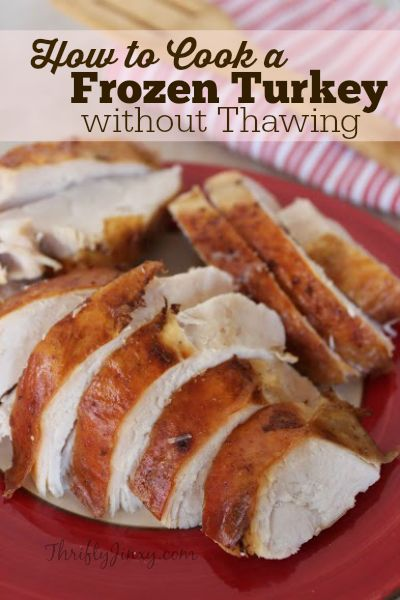 The best way to prepare a turkey is from one that has been defrosted, but if you're in a pinch, here is How to Cook a Frozen Turkey without Thawing!