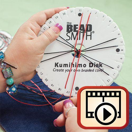 12 vidéos kumihimo (spirale, plat...)