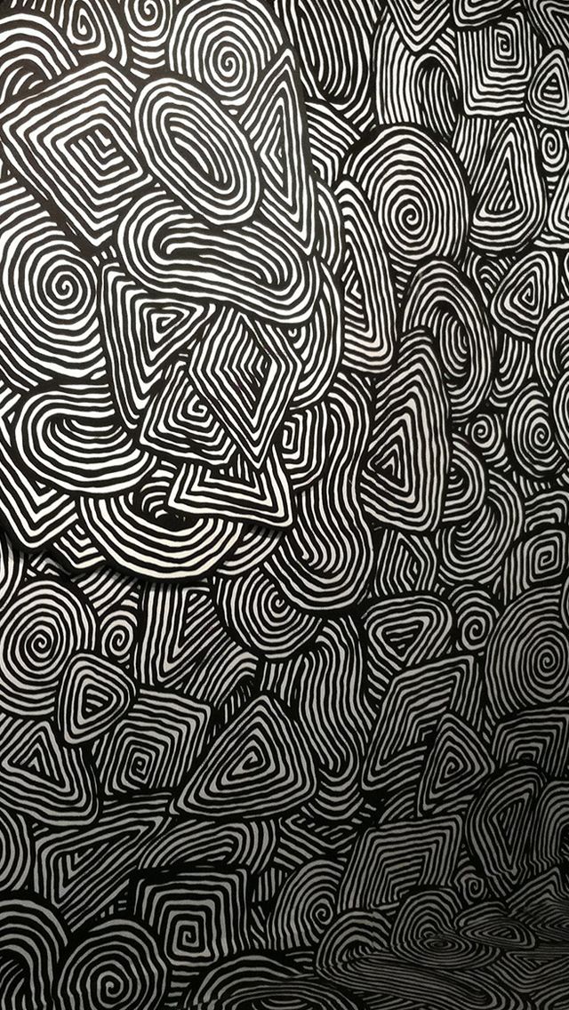 Eraser psychedelic pattern #iPhone #5s #Wallpaper