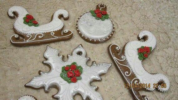 Terrie Butler Pringle:  Winter / Christmas snow cookies.