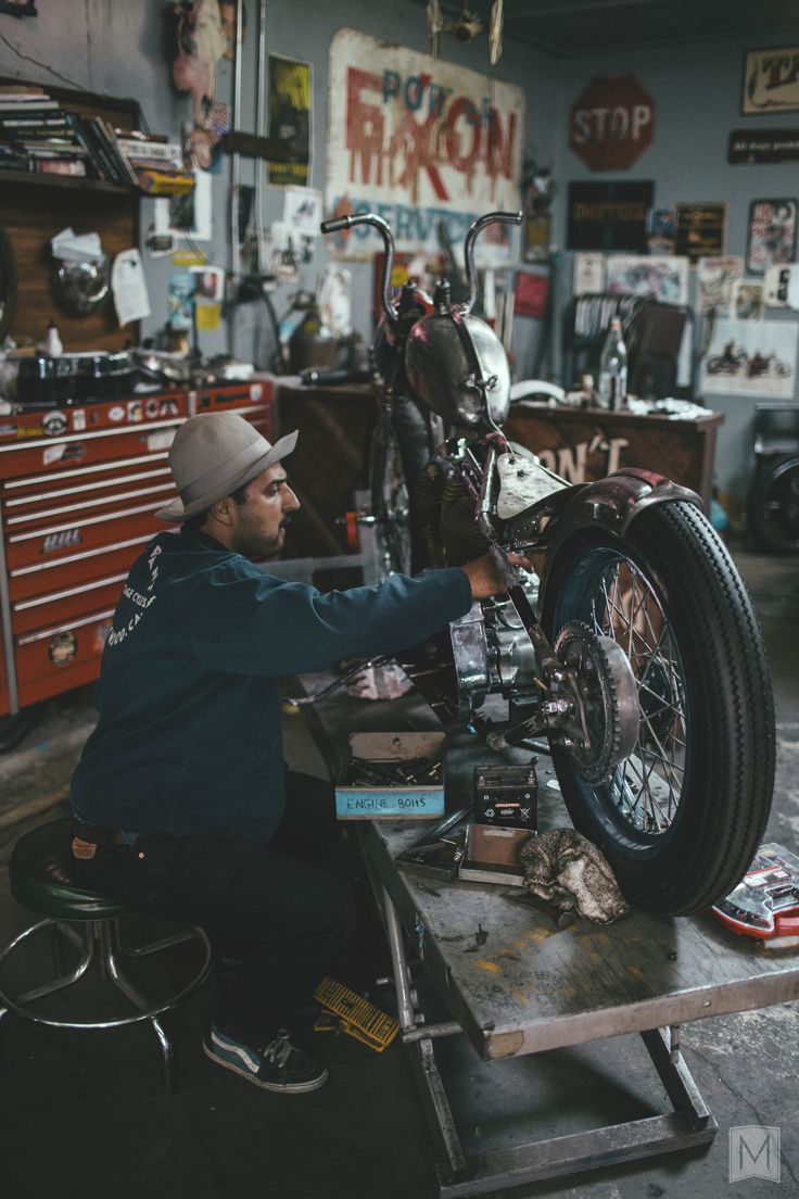 1000 ideas about motorcycle garage on pinterest for Custom garage workshop