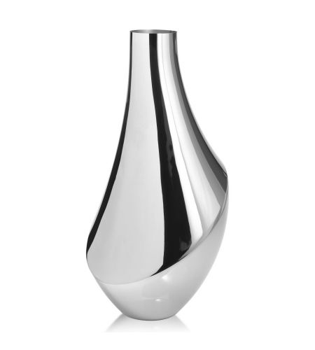 Flora Stainless Steel Large Vase by Georg Jensen